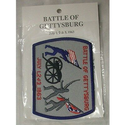 CIVIL WAR BATTLE OF GETTYSBURG  PATCH Embossed Sew On PATCH New 38237 4.25X 3.25
