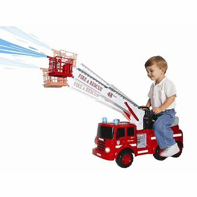 Action Fire Engine Ride-On - Sounds - Working crane & Water Squirt Function