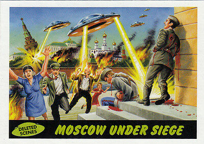 2012 Topps Mars Attacks Heritage Deleted Scenes Card #2 Moscow Under Siege