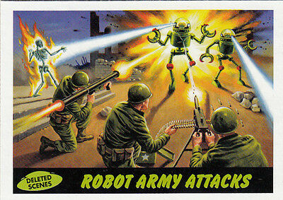 2012 Topps Mars Attacks Heritage Deleted Scenes Card #5 Robot Army Attacks