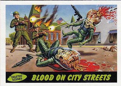 2012 Topps Mars Attacks Heritage Deleted Scenes Card #4 Blood On City Streets