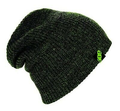 509 Snowmobile Snowcross OVERSIZED BEANIE CAP HAT - LIME HEATHER - NEW