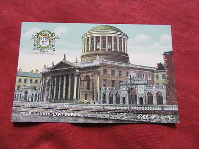 VINTAGE IRELAND: DUBLIN Four courts crested colour tint