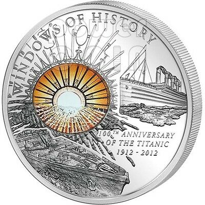 Cook Islands  2012 10 Dollars  Titanic Windows of History  Silver Coin ARGENT