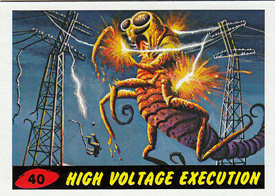 2012 Topps Mars Attacks Heritage Base Card #40 High Voltage Execution