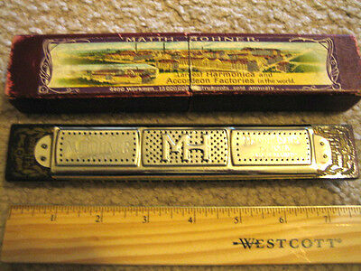 Hohner Marine Band Tremolo No 152 with original box!  Very old, cool vintage!