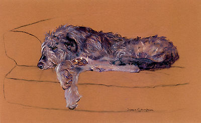 "DEERHOUND SCOTTISH DOG FINE ART LIMITED EDITION PRINT - ""Time to Chill"" # 10/395"