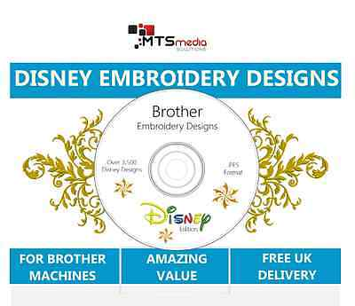 3,500 Disney Brother Embroidery Design Collection with Preview Software