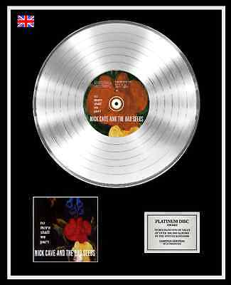 NICK CAVE AND THE BAD SEEDS Ltd Edition CD Platinum Disc NO MORE SHALL WE PART