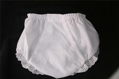 White Eyelet Girl Diaper Cover Extra Cute!!  Many Sizes newborn-4T