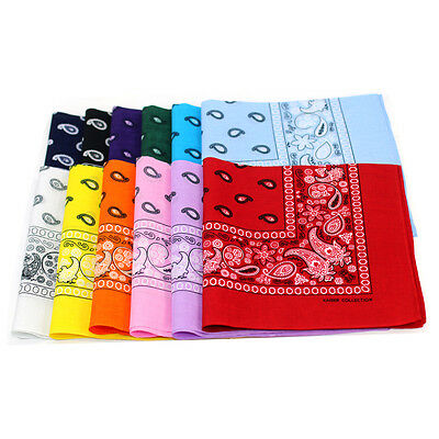 12 pieces(1dozen) Bandanas Head Wrap Scarf 100% cotton  Multi 1