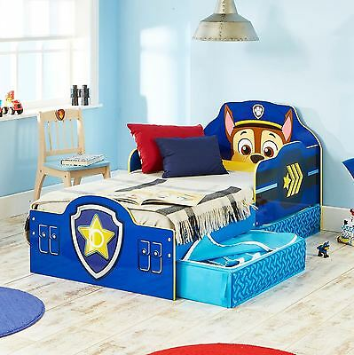 Paw Patrol Chase Blue Toddler Bed With Storage Mdf 18 Months + Free P+P 509Pwp