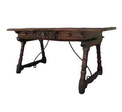 Spanish Antique Walnut Writing Table Desk Antique Furniture