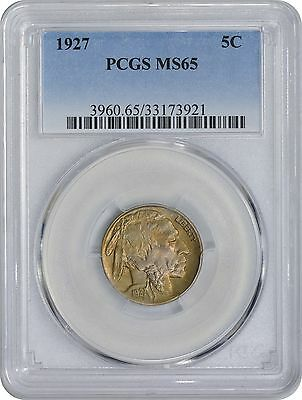 1927 Buffalo Nickel MS65 PCGS Mint State 65