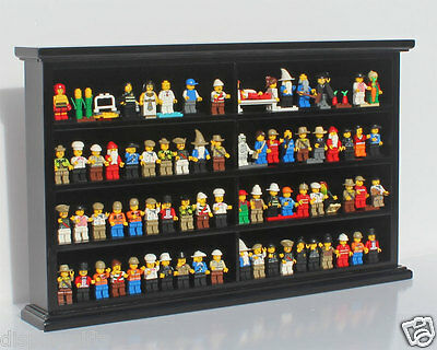 Kid-Safe Lego/Minecraft Minifigure Display Case Wall Cabinet Stand, LG-MH07-BL