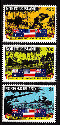Norfolk Island 1991 50th Anniversary of War In The Pacific MNH