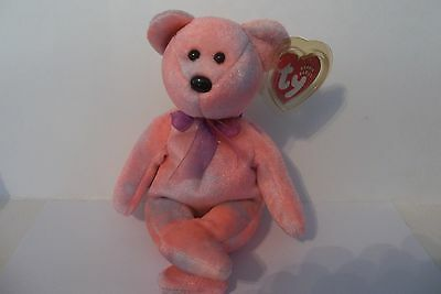 Ty Beanie Baby~Pink Clubby 5Th Anniversary Edition~Mwmts