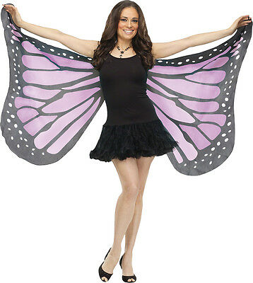 Purple Soft Fabric Orchid Butterfly Ladies Costume Wings