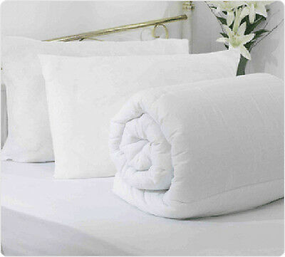 Fine Quality Hollow Fibre Duvets / Quilts + 2 Free Pillows - All Sizes And Togs