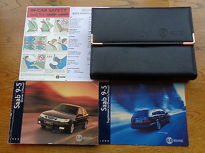 SAAB 9-5 95 Owners Handbook/Manual and Wallet 97-01