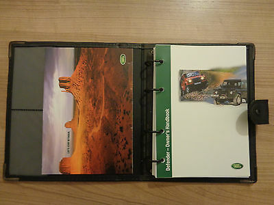 Land Rover Defender Owners Handbook/Manual and Wallet 99-06