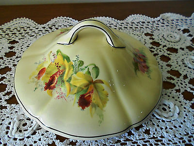 Royal Doulton Vegetable Tureen Lid  Orchid D5215 England 1930s