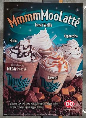 Dairy Queen Promotional Poster Moo Latte dq2