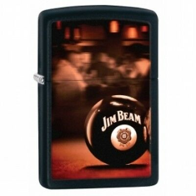 Zippo Jim Beam Ball Black Matte Lighter Brand New