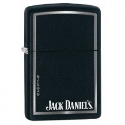 Zippo Jack Daniels Black Matte Windproof Lighter Brand New