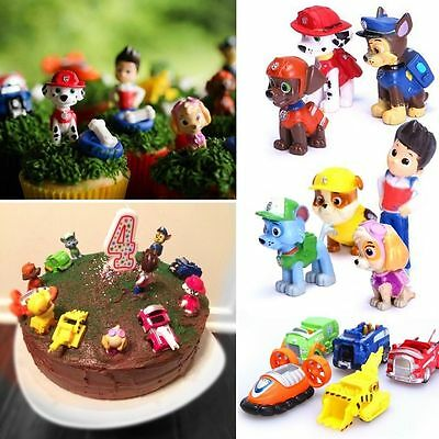 12pcs/Set Fun Cute Paw Patrol Cake Toppers Action Figures Doll Children Toy