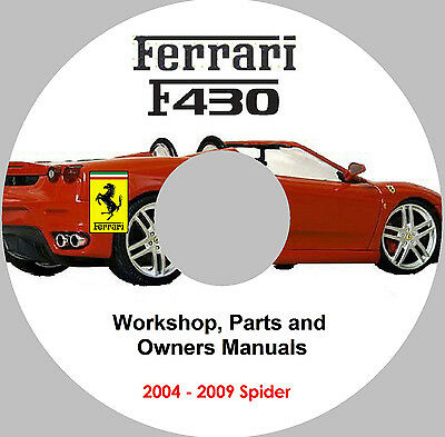Ferrari F430 Spider Service, Parts & Owners Manual Set on CD