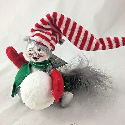 "ANNALEE 4"" SNOWBALL KITTY - NEW with TAG - 2014  (4323)"