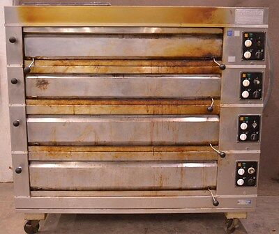 Adam Equipment Adamatic 4-Deck Electric Pizza  Bakery Oven 208V 3-Phase