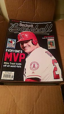 New Beckett Baseball Card Price Guide February 2017  Mike Trout On Cover