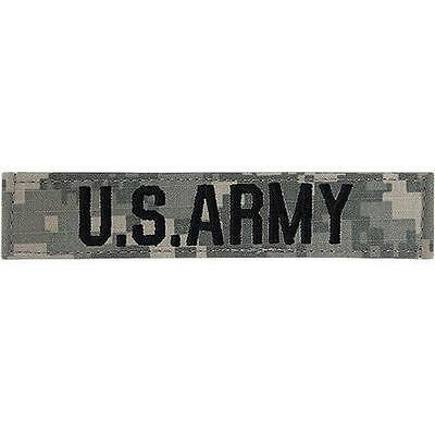 US ARMY ACU Name tag tape Uniform with Fastener Patch New Digital Camouflage