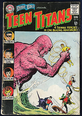 Brave And The Bold Teen Titans 60 VG+ 1st Wonder Girl