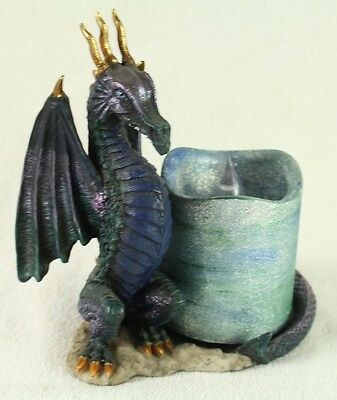 Dragon Statue Figurine Resin candle holder