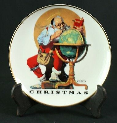 Norman Rockwell Santa Plate