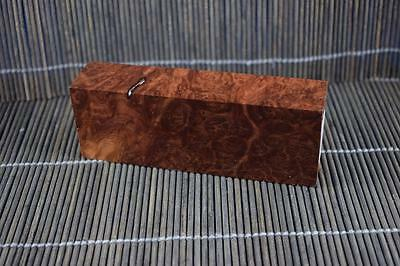 Stabilized Red Mallee Burl Knife Scales Block
