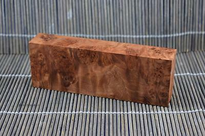 Stabilized Myrtle Burl Knife Scales Block