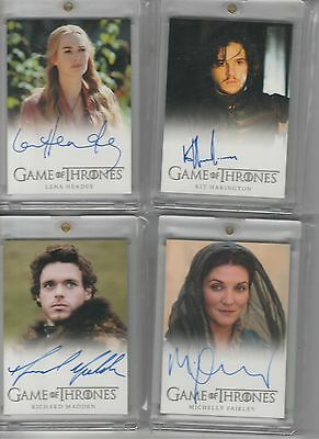 Game Of Thrones Season 2 Auto Kit Harington Full Bleed Autograph