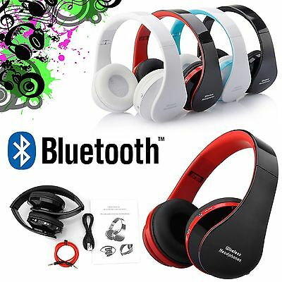 Bluetooth Wireless Foldable Headset Stereo Headphone Earphone for iPhone New AL