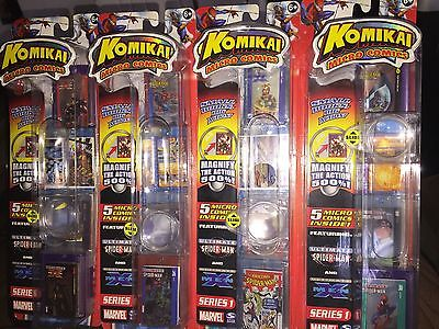 Komikai 5 Micro Comics Game Set! Vhtf! Complete With All Accessories $150 Value
