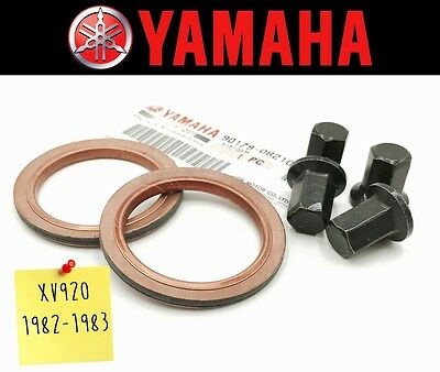 Exhaust Manifold Gasket Repair Set Yamaha XV920 # XV920M 1982-1983 (Incl. Nuts)