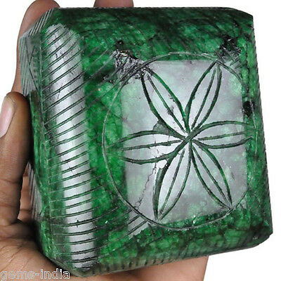 Certified 4875 Cts 100% Natural Green Hand Carved Emerald Museum Size Huge Gem