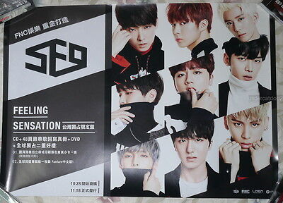 SF9 Feeling Sensation 2016 Taiwan Promo Poster