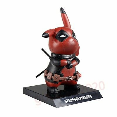 New Pokemon Pocket Monster Cosplay Deadpool Pikachu Figure without Box