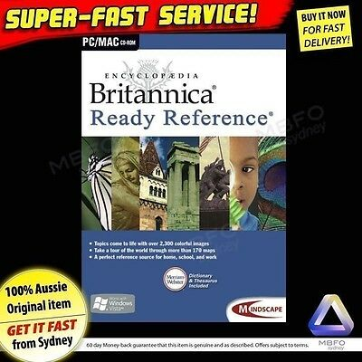 Britannica Ready Reference (NEW) Windows PC Educational software SAFE for kids
