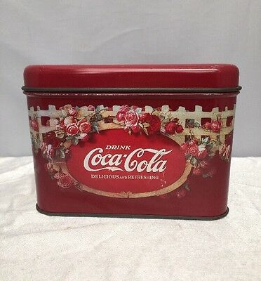 Vintage Coca Cola Tin Container With Lid