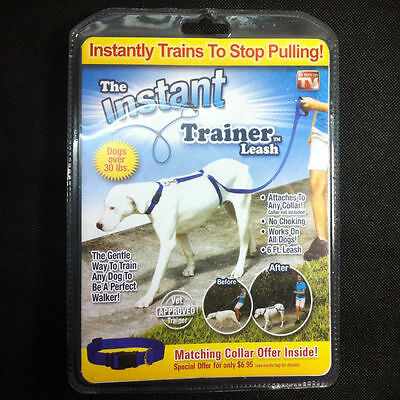 Instant Trainer Dog Leash Trains Dogs 30 Lbs Stop Pulling  Dog walk
